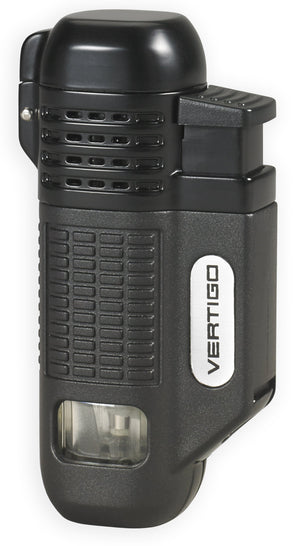 Vertigo Equalizer Quad Torch Lighter w/ Cigar Punch - Lighter USA