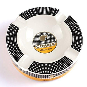 Cohiba Circle Ceramic Ashtray - Classic Color - Lighter USA
