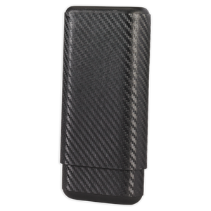 Black Label Carbon Fiber Cigar Case - Lighter USA