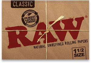 RAW Classic Natural Unrefined Rolling Papers - 1½