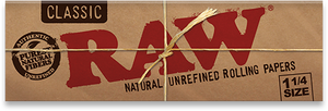RAW Classic Natural Unrefined Rolling Papers - 1¼