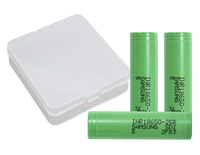 Samsung 18650 25R 2500mAh Lithium-ion Battery - 3 Pack + 4 Pack Case Batteries Samsung - Lighter USA