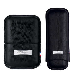 S.T. Dupont Lighter Case - Contraste Leather Black