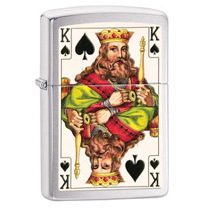 Zippo Lighter - 2 Sided King of Spade - Lighter USA