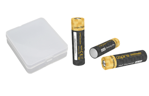 Aspire 18650 40A 1800mAH Battery & Case Combo - 3 Pack