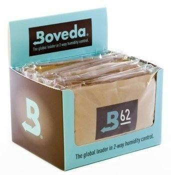 Boveda 2-Way Humidification 60 Grams - 62% 12 Pack - Lighter USA