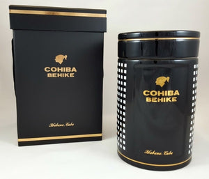 Cohiba Siglo 6 Ceramic Jar - Black - Ashtrays