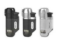 Vertigo Equalizer Quad Torch Lighter w/ Cigar Punch Lighter Vertigo - Lighter USA