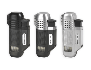 Vertigo Equalizer Quad Torch Lighter w/ Cigar Punch