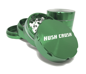 "Hush Crush 2"" 4-Piece Magnetized Herb Grinder - Dark Green - Lighter USA - 1"
