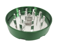 "Hush Crush 2"" 4-Piece Magnetized Herb Grinder - Dark Green"