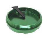 "Hush Crush 2"" 4-Piece Magnetized Herb Grinder - Dark Green - Lighter USA - 5"