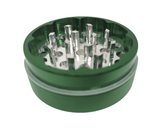 "Hush Crush 2"" 4-Piece Magnetized Herb Grinder - Dark Green - Lighter USA - 3"
