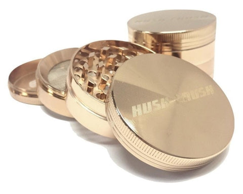 "Hush Crush 2"" 4-Piece Magnetized Grinder - Rose Gold (Special Edition) Grinders Hush Crush - Lighter USA"
