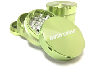 "Hush Crush 2"" 4-Piece Magnetized Herb Grinder - Lime Green"