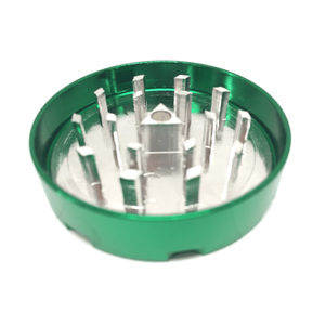 "Hush Crush 2"" 4-Piece Magnetized Herb Grinder - Rasta - Lighter USA - 2"