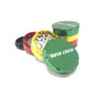 "Hush Crush 2"" 4-Piece Magnetized Herb Grinder - Rasta - Lighter USA"