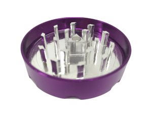 "Hush Crush 2"" 4-Piece Magnetized Herb Grinder - Violet - Lighter USA"