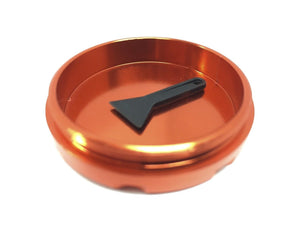 "Hush Crush 2"" 4-Piece Magnetized Herb Grinder - Burnt Orange - Lighter USA - 2"