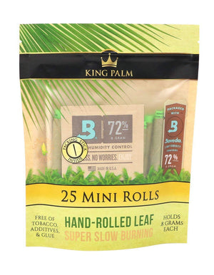 King Palm 25 Mini Rolls (25 Pack)