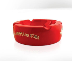 La Aroma De Cuba Ashtray - Red - Lighter USA