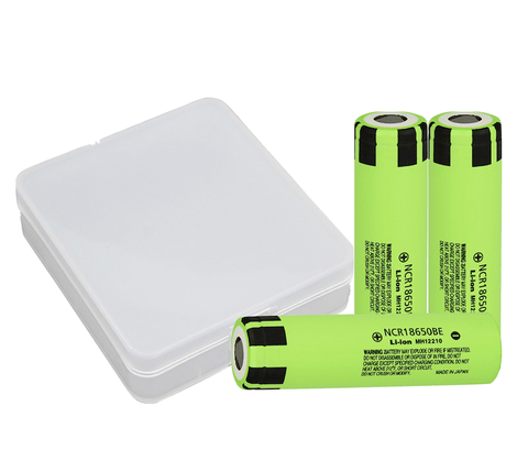 Panasonic 18650B 3400mAh Battery & Case Combo - 3 Pack