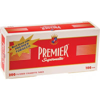 Premier Regular 100mm Tubes Case - 10,000 Tubes Smoking Accessories Premier - Lighter USA