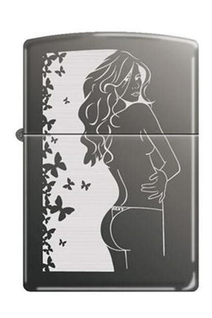 Zippo Lighter - Cindy Black Ice