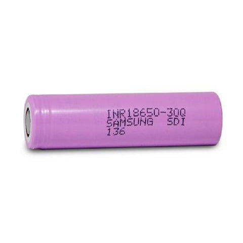 Samsung 18650 30Q Rechargeable 3000mAh Lithium-ion - Single Batteries Samsung - Lighter USA