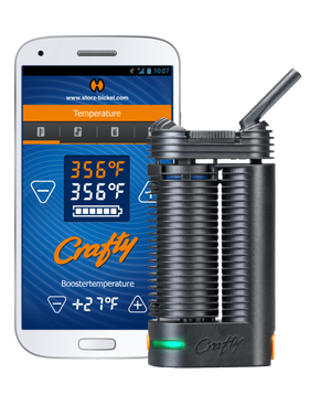 Storz & Bickel Crafty Vaporizer + Free Grinder + Overnight Shipping - Lighter USA