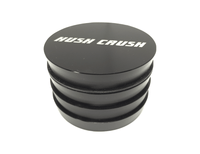 "Hush Crush 2.5"" 4-Piece Tiered-Towered Magnetized Herb Grinder - Black"