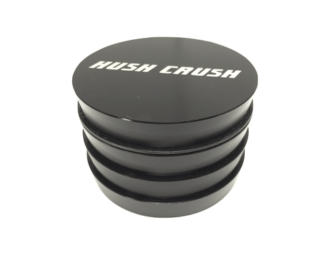 "Hush Crush 2.5"" 4-Piece Tiered-Towered Magnetized Herb Grinder - Black - Lighter USA - 1"