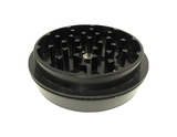 "Hush Crush 2.5"" 4-Piece Tiered-Towered Magnetized Herb Grinder - Black - Lighter USA - 4"
