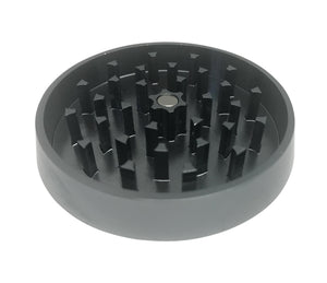 "Hush Crush 2.5"" 4-Piece Tiered-Towered Magnetized Herb Grinder - Gray - Lighter USA"