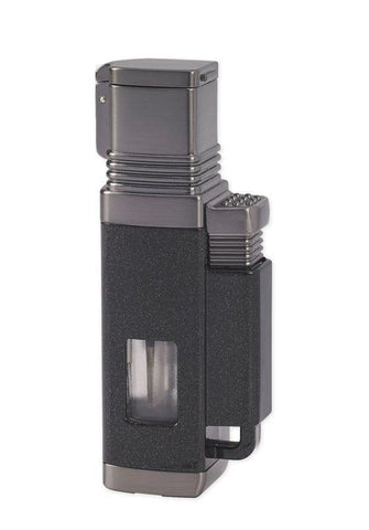 Vertigo Churchill Quadruple Torch Lighter - Black Matte & Gunmetal - Lighter USA