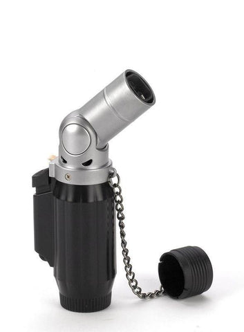 Vertigo Intimidator Quadruple Torch Lighter - Black & Chrome - Lighter USA
