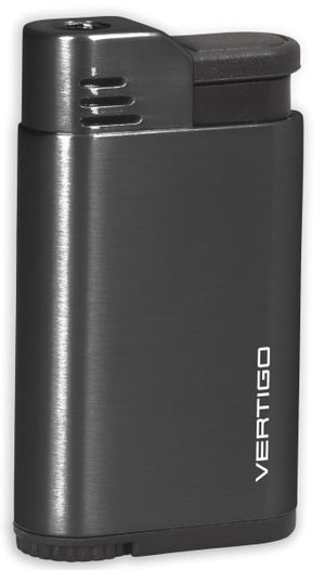 Vertigo Attache Single Jet Flame Lighter - Brushed Gunmetal - Lighter