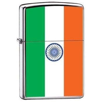 Zippo Lighter - India Indian Flag - Lighter USA