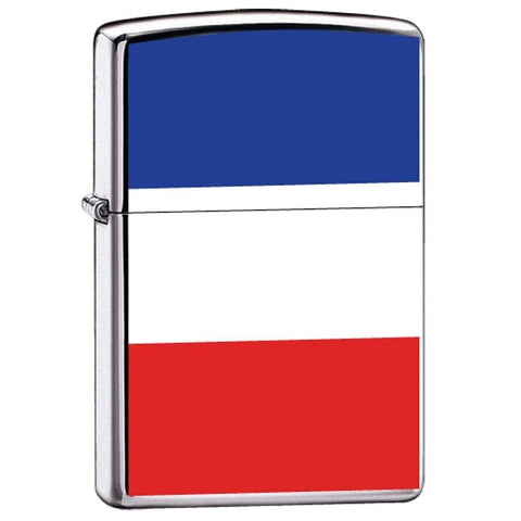 Zippo Lighter - Flag of France High Polish Chrome - Lighter USA - 1