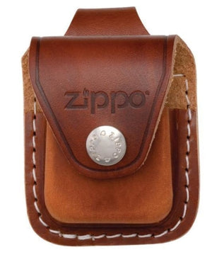 Zippo Brown Leather Lighter Pouch with Belt Loop