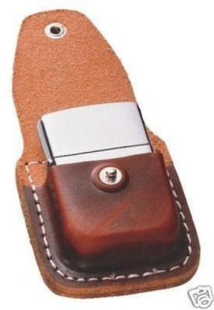 Zippo Brown Lighter Pouch with Clip