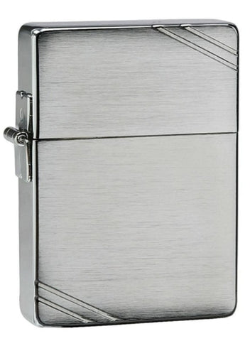 Zippo Lighter - 1935 Replica w/ Slashes Brushed Chrome - Lighter USA