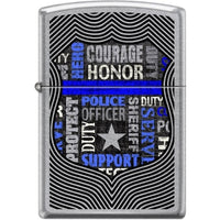 Zippo Lighter - Badge Street Chrome