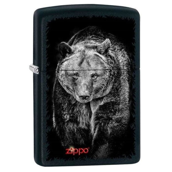 Zippo Lighter - Bear Black Matte - Lighter USA