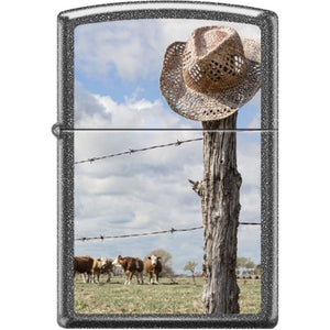 Zippo Lighter - Cattle Ranch Iron Stone
