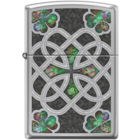 Zippo Lighter - Celtic Trinity Knot High Polish Chrome - Lighter