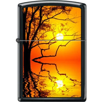 Zippo Lighter - Double Sunset Black Matte