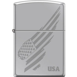 Zippo Lighter - Venetian High Polish Chrome – Lighter USA