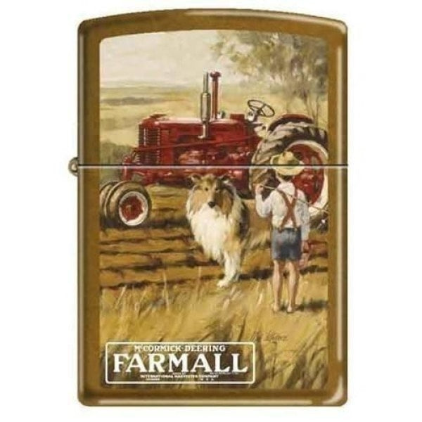 Zippo Lighter - Farmall With Boy and Dog Toffee - Lighter USA