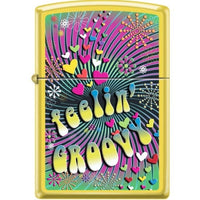 Zippo Lighter - Feelin Groovy Lemon - Lighter